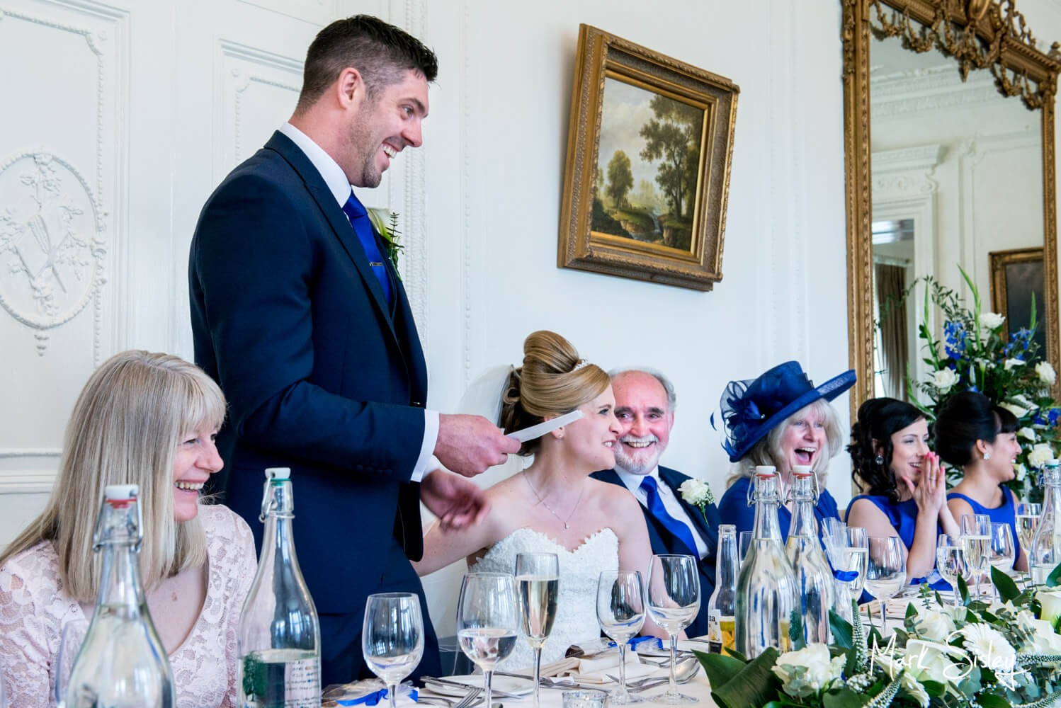 Taplow House wedding speeches make for great photos