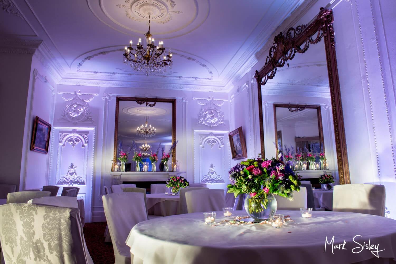 Taplow House Hotel wedding evening reception room