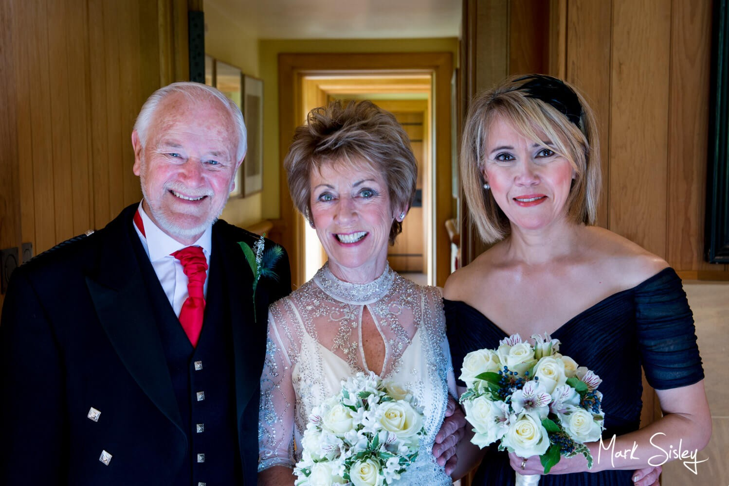 Pre ceremony with the bride at her Dairy Waddesdon Scottish themed wedding