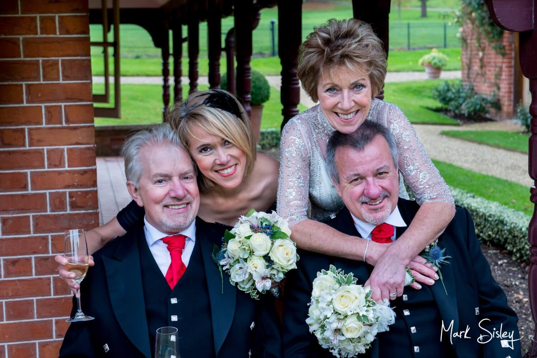 Dairy Waddesdon Scottish themed wedding - relaxed group pose