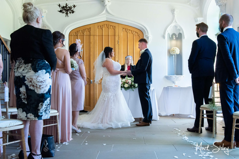Missenden Abbey lockdown wedding - socially distanced ceremony