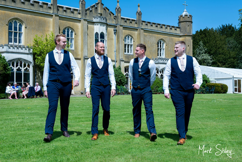 Missenden Abbey lockdown wedding - ushers before the ceremony