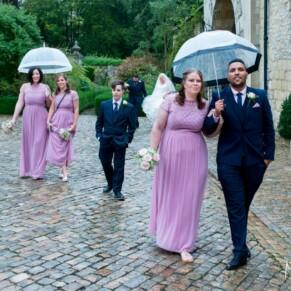Hartwell House autumn wedding on a rainy day