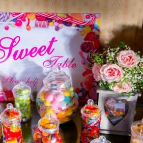 Sweet display at Hartwell House autumn wedding