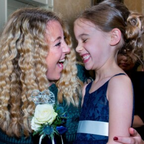 Hartwell House wedding photography of two ladies enjoying a giggle