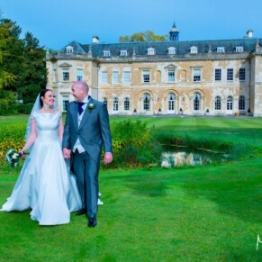 Hartwell House wedding photography of the newlyweds enjoying a few quiet moments in the gardens