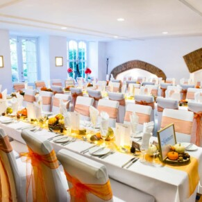 Missenden Abbey autumn wedding interiors in the Dining Room