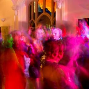 Missenden Abbey autumn wedding picture on the dancefloor