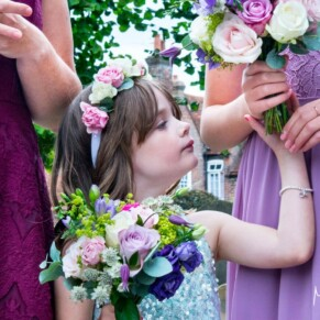 Pre ceremony at St Mary's Church Amersham summer wedding