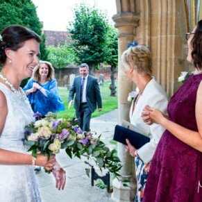 Pre ceremony at St Mary's Church Amersham wedding