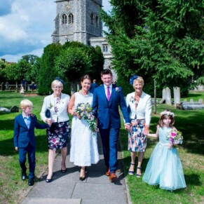 After the ceremony at St Mary's Church Amersham wedding