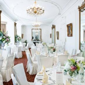 Taplow House Hotel wedding photos of the Tulip Tree Room