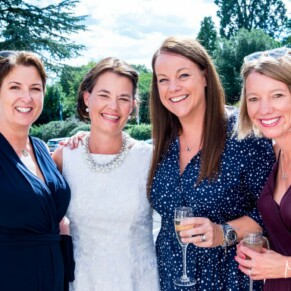 Taplow House Hotel wedding photos of the bride with her girlfriends