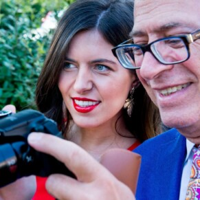 Candid moment at Taplow House summer wedding