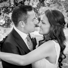 Romantic moment at Taplow House summer wedding