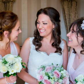 Pre ceremony with the ladies at Taplow House summer wedding