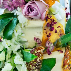 Sumptuous wedding cake at Taplow House summer wedding