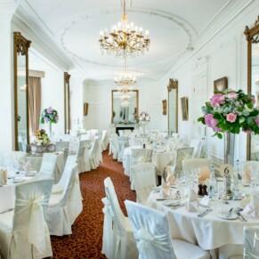 Taplow House summer wedding interior of the Tulip Tree Room