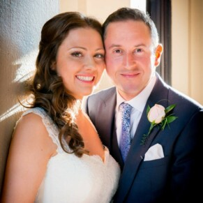 Low light shot of the newlyweds at their Taplow House summer wedding