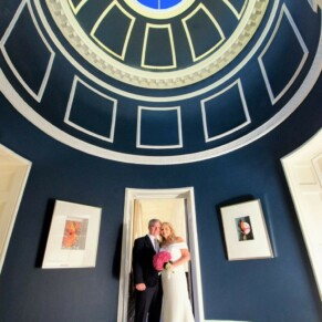 Grove Watford wedding photography of the bride and groom inside this magical hotel
