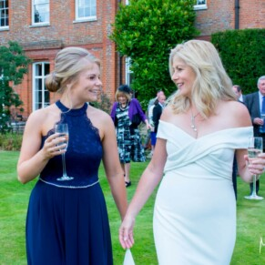 Grove Hotel Watford wedding photography of the bride with her bridesmaid