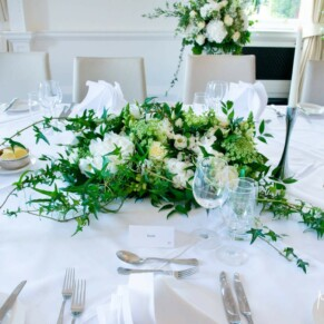 Grove Hotel Watford wedding photography of the top table
