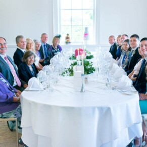 Grove Hotel Watford wedding photography of the guests at the banqueting table