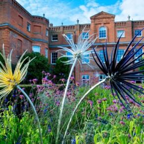 Grove Hotel Watford wedding photography amongst the flower borders