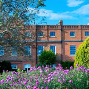 Grove Hotel Watford wedding photography under perfect blue skies